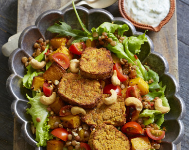 butternut and lentil salad
