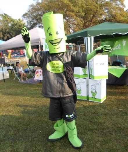 Image of Mpact mascot in action