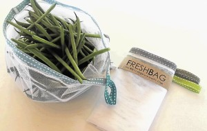 This is an image of green beans in a FreshBag