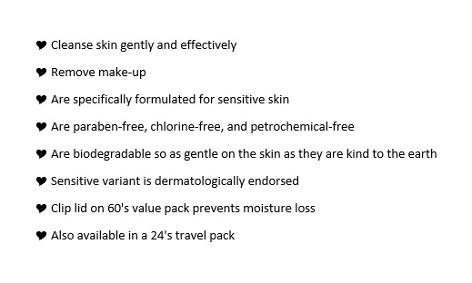 Cherubs eco facial wipes list