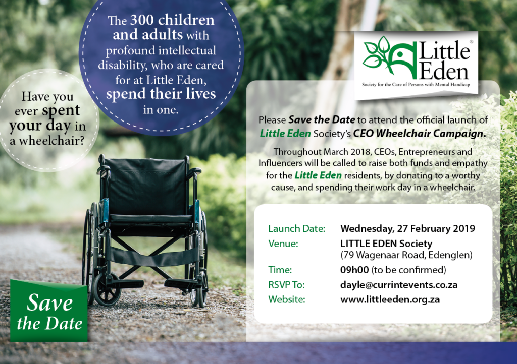 Little Eden Wheelchair campaign
