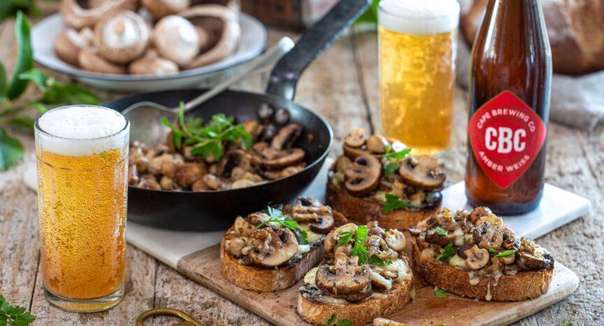 photo of mushroom bruschetta