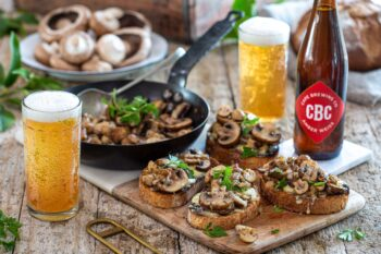 photo of mushroom bruschetta