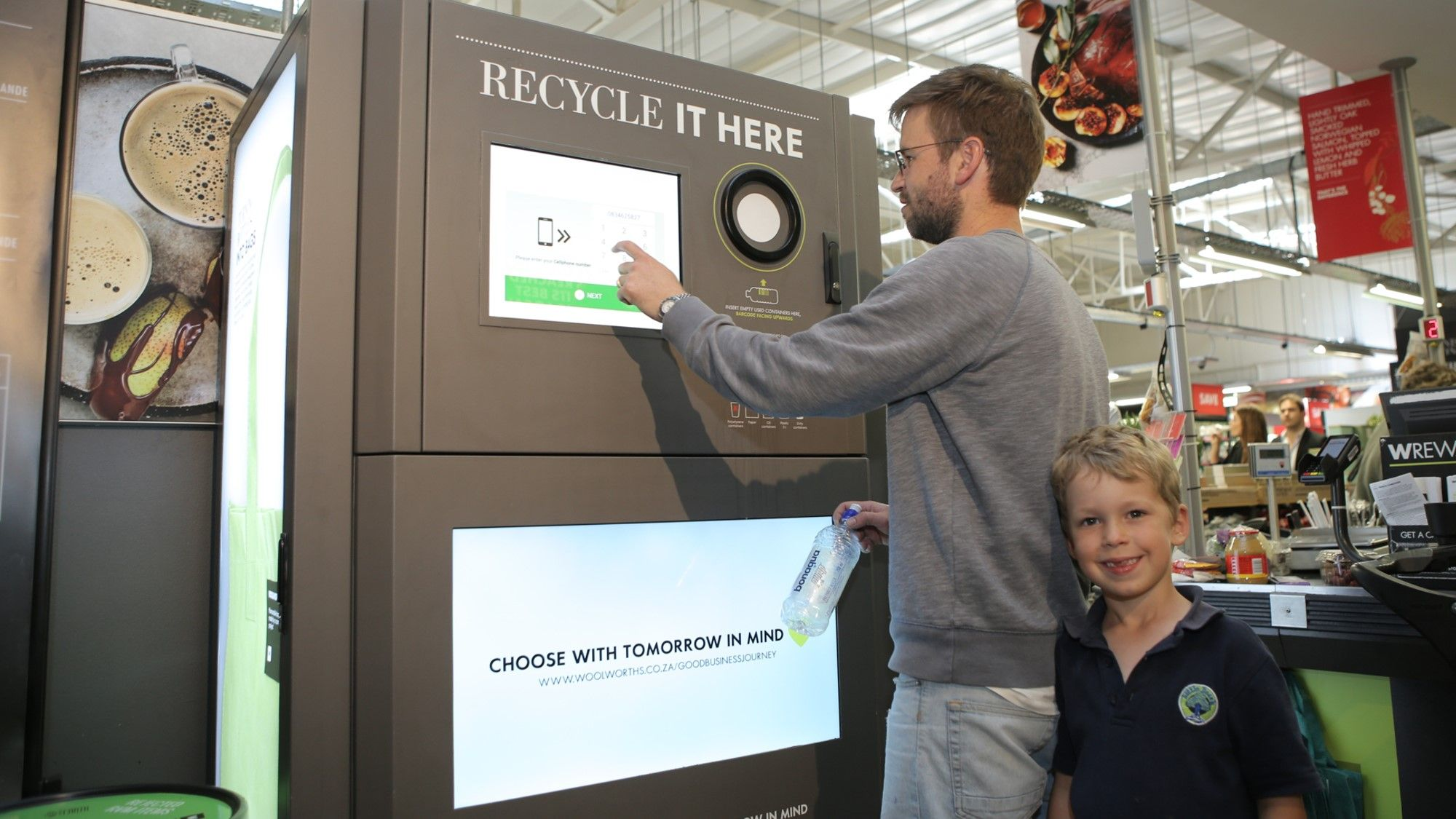 green vending machine