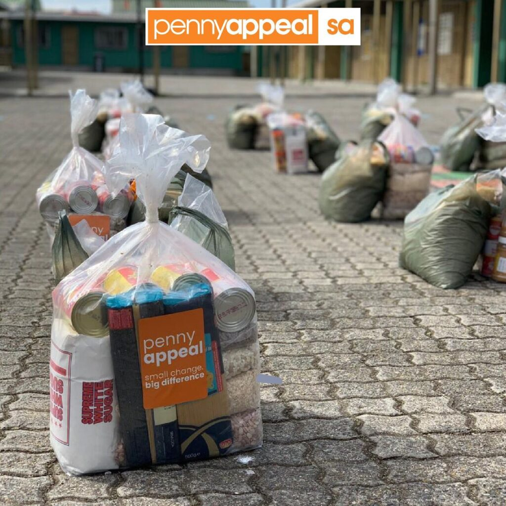 photo of food parcels