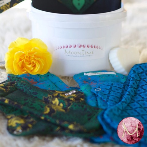 photo of flower and Moontime pads