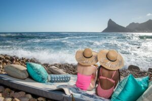 photo of ladies enjoying the beach