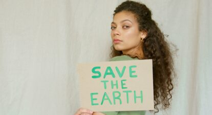 Poster saying Save the Earth