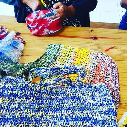 Photo of crocheted ReBag.ReUse bag